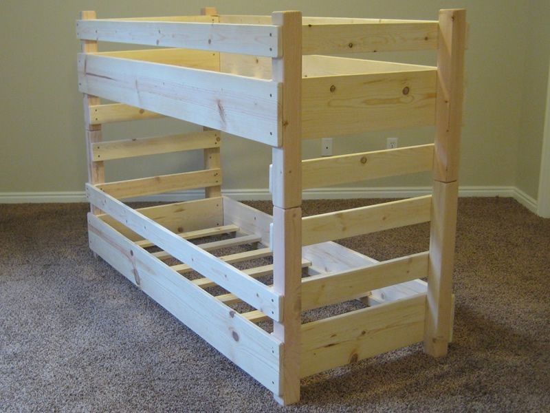 360° View of our Crib Size Kids Toddler Bunk Bed bunk