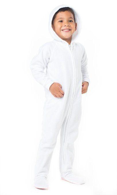86017647de7e Order for bolt costume!     Amazon.com  Footed Pajamas Arctic White ...