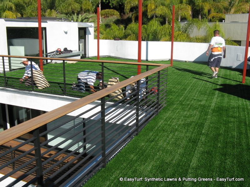 Artificial Grass Green Roof Rooftop Landscape 1 Deck The