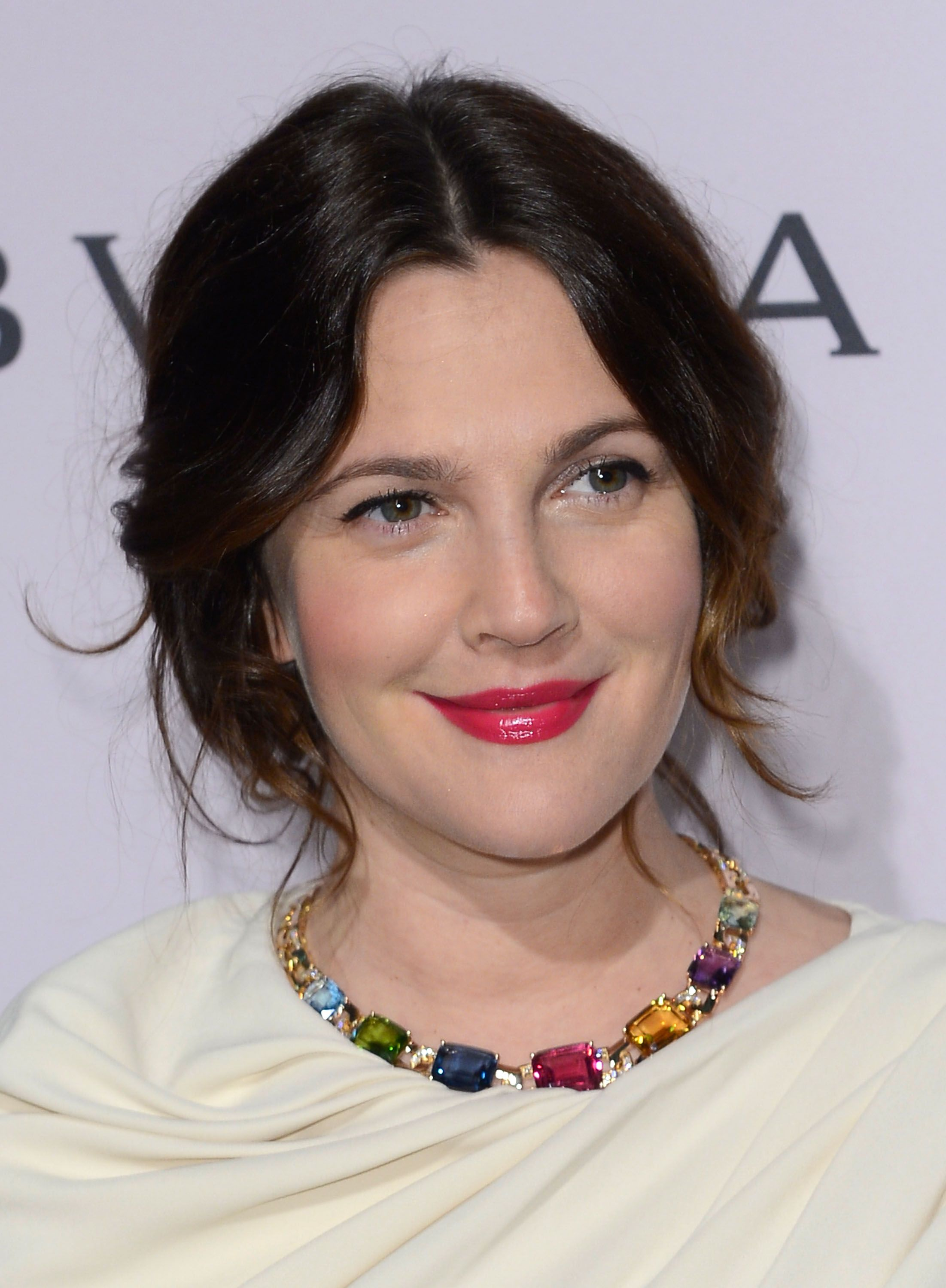Drew Barrymore. Hair. Lips. Naturally