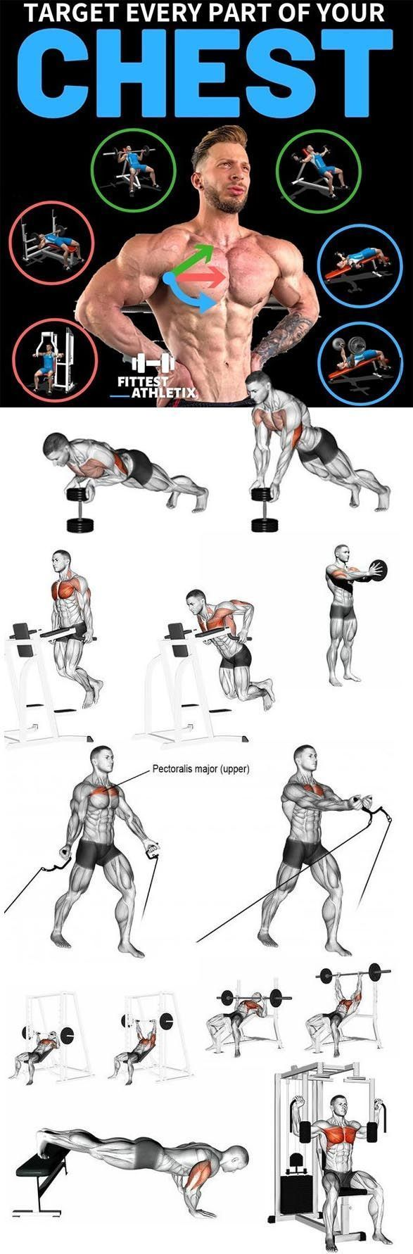 chest workout gym at home or at gym in 2020 Chest