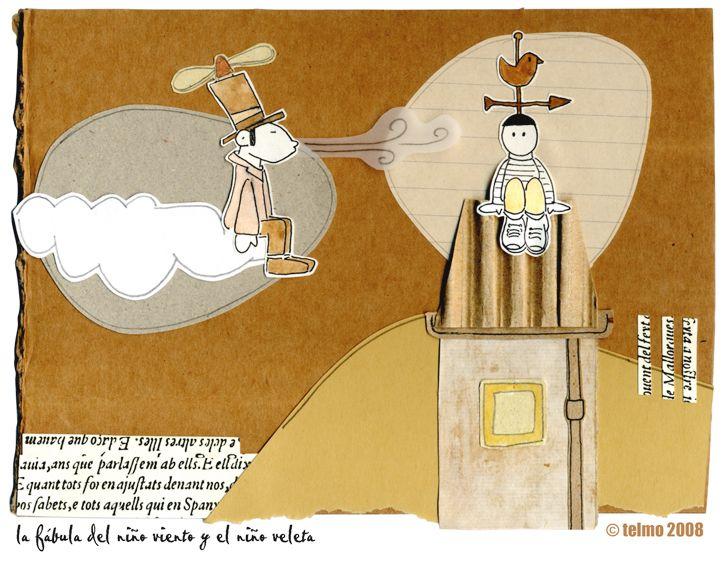 La fábula del niño viento y el niño veleta