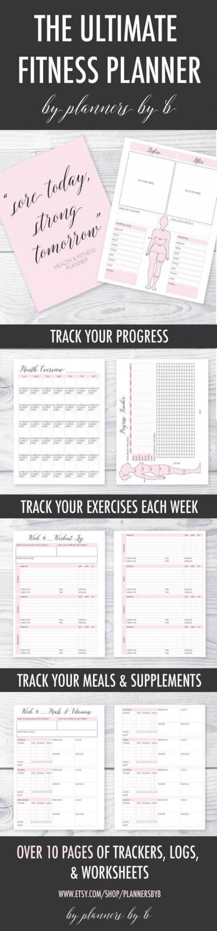 40+ Trendy fitness tracker printable monthly weight loss #fitness