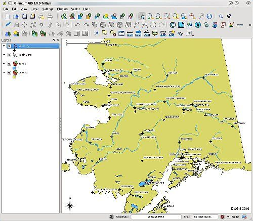 Quantum GIS (QGIS) is a powerful and user friendly Open