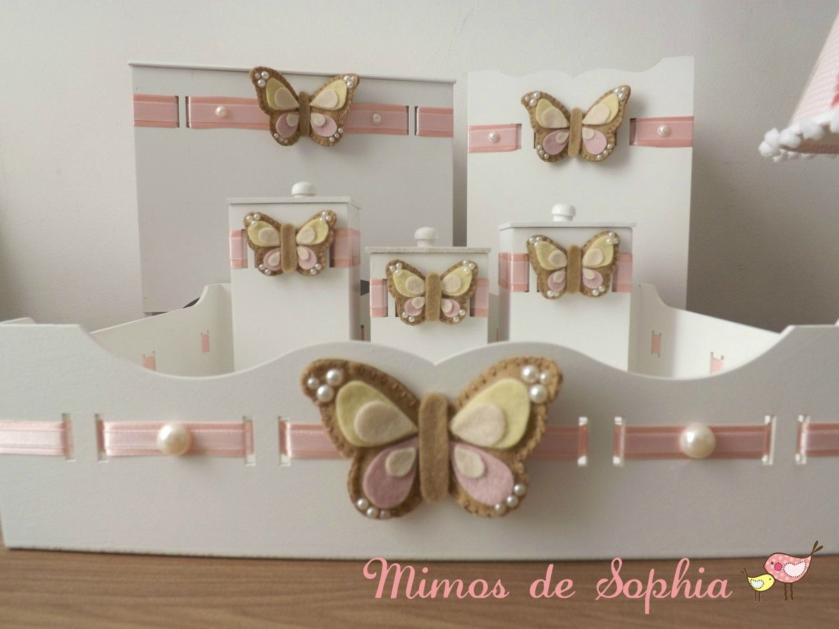 Lindo Kit Higiene Em Mdf Decorado Conforme O Tema Do Quartinho Do  ~ Abajur Artesanal Para Quarto E Quarto Infantil Decorado
