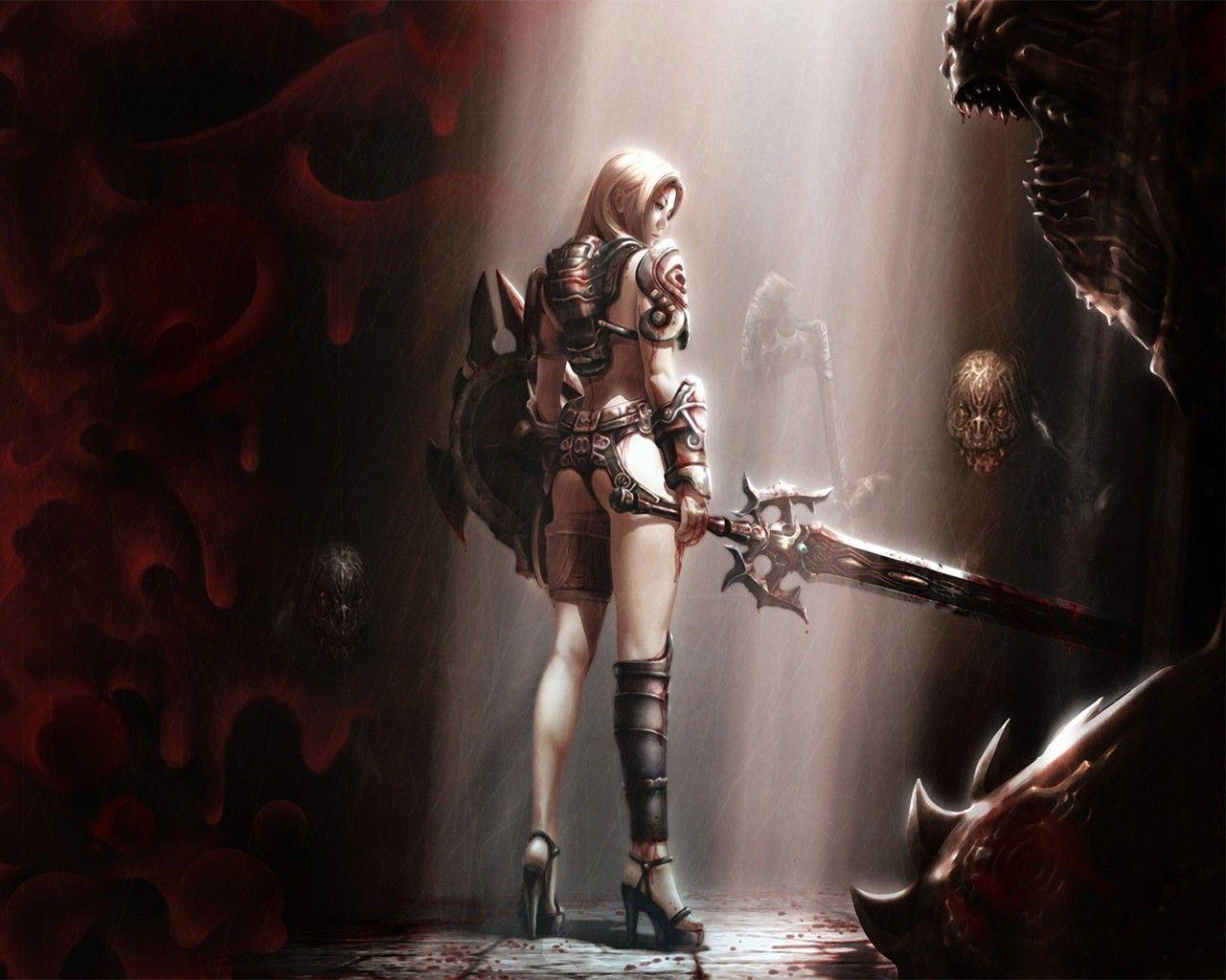 Fantasy Warrior Girl Warrior Girl Fantasy Warrior Warrior Woman