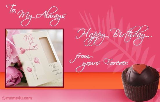 Birthday Love Cards For Him