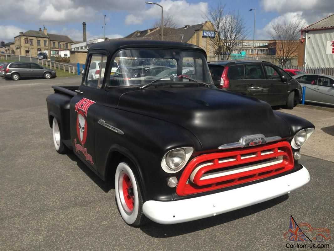 1955 chevrolet stepside 3100 v8 auto air street rod classic - Chevrolet 3100 Sidestep Pickup 1957 Rat Rod Hot Rod No Reserve For