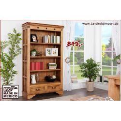 Photo of Mexico bookcase hacienda, solid pine 1a direct import