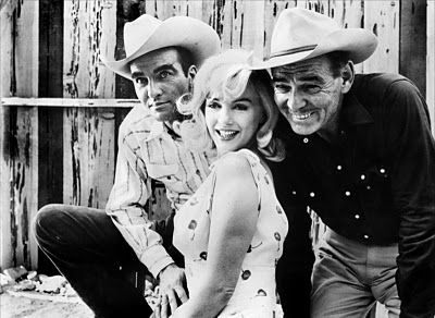 A rock and a hard place: Marilyn is bookended by history's King of the Studio   era, Clark Gable, and the Prince of the new Method, Monty Clift, in The Misfits.