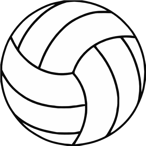 free printable volleyball clip art shape collage shapes rh pinterest ca volley ball image clipart