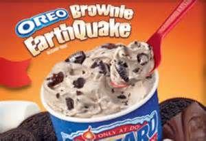 Oreo Brownie earthquake Blizzard