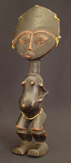 African Fertility Doll Wood Hand Carved Tribal Art /'Comforter/' NOVICA Ghana