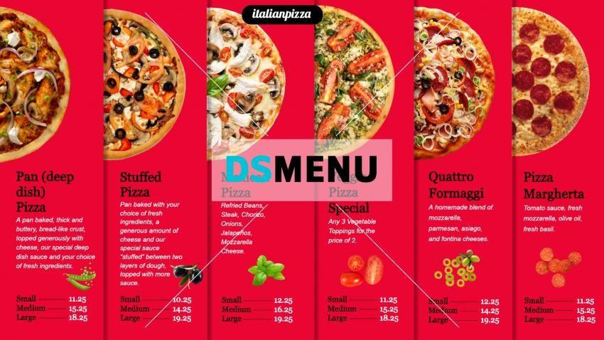 Pin On Pizza Menu Design