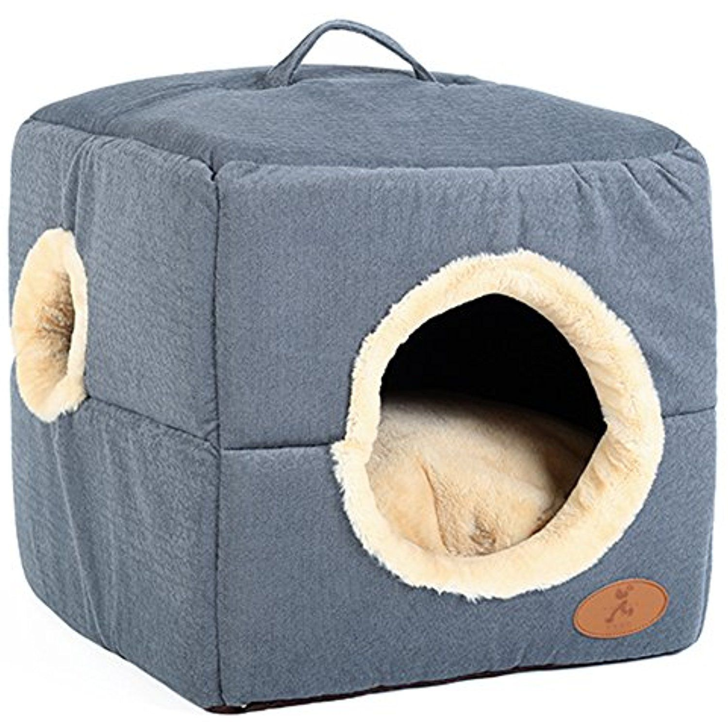 Wildgirl Small Dog Cat House Dualuse Bed Removable 2in1