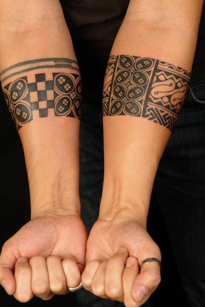 tatuajes maories brazaletes maories en antebrazo tablero de