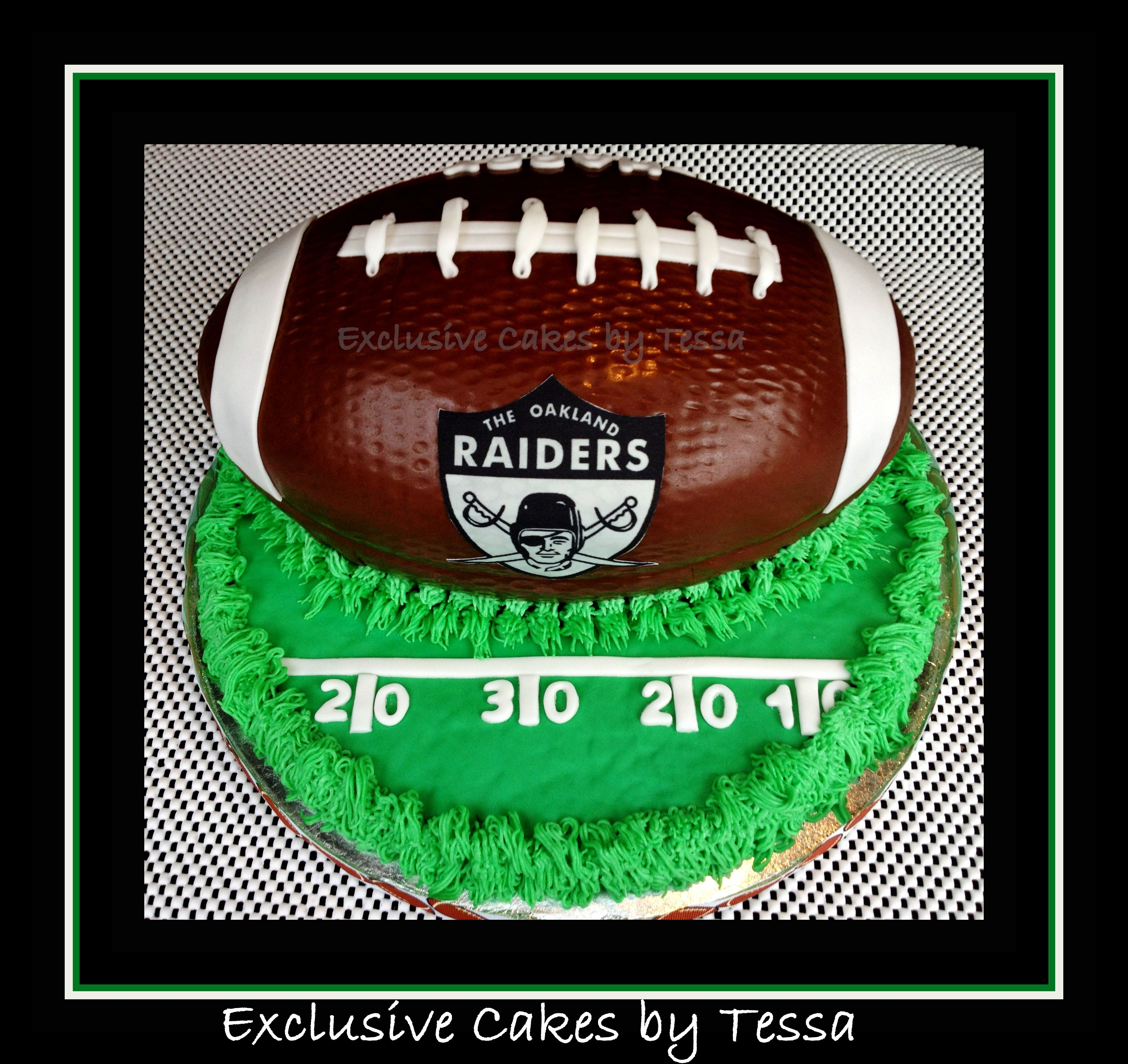 Oakland Raiders Football Cake By Exclusive Cakes By Tessa