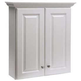 Style Selections Northrup White Wall Cabinet Common 25 In Actual 28 39