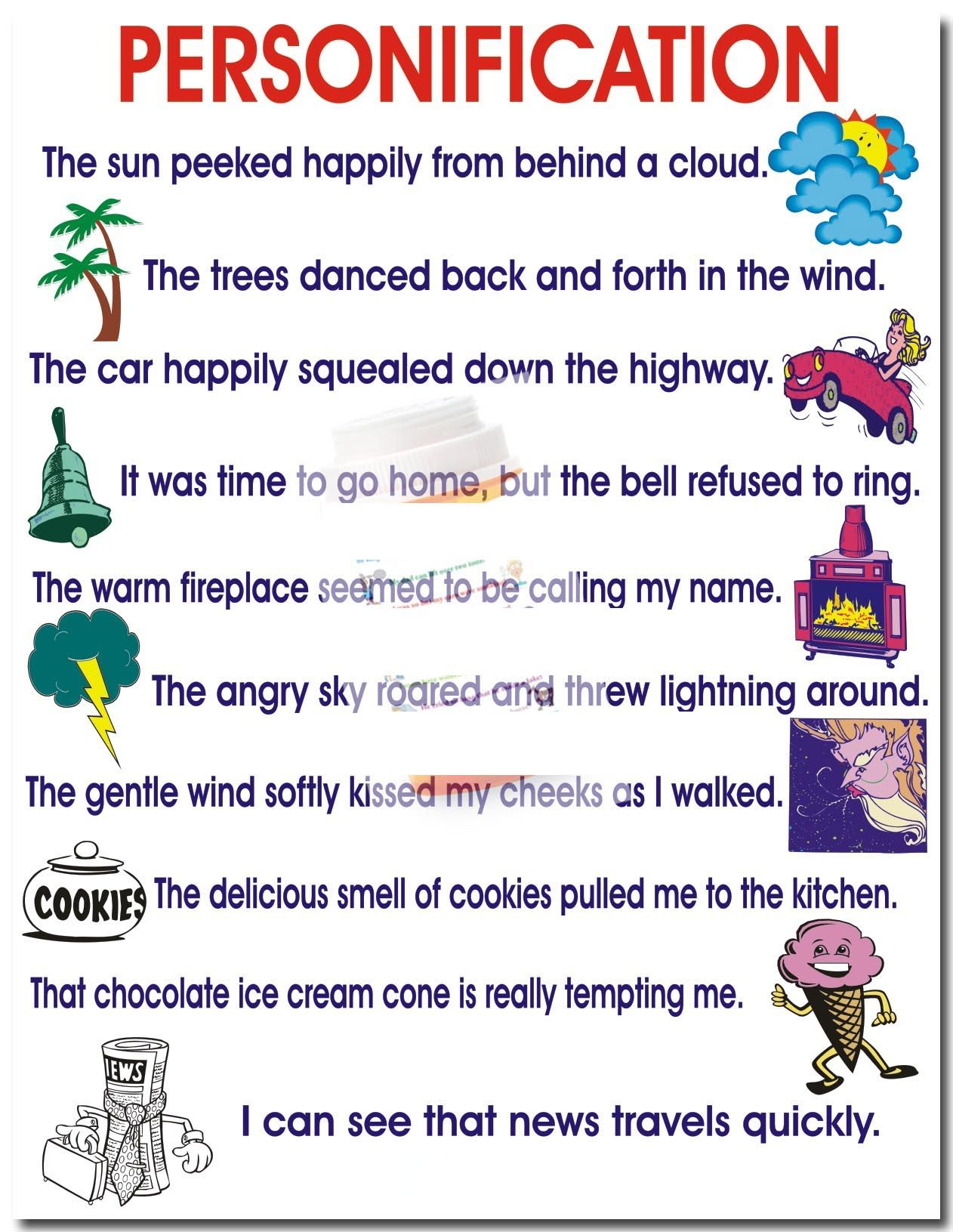 personification google search ela interactive journals  personification by the writing doctor other examples of figurative language
