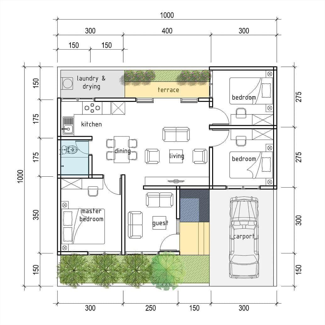 Rumah 3kt Di Tanah 10 X 10 M Good Design For Everyone With