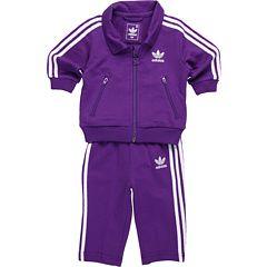 purple adidas tracksuit