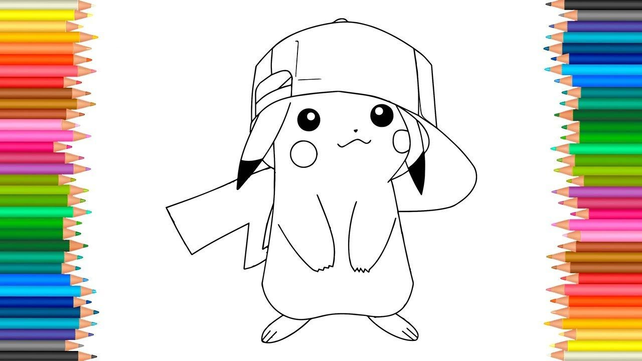 Pikachu Coloring Pages l Pokemon Coloring Book Videos For Children Learn...