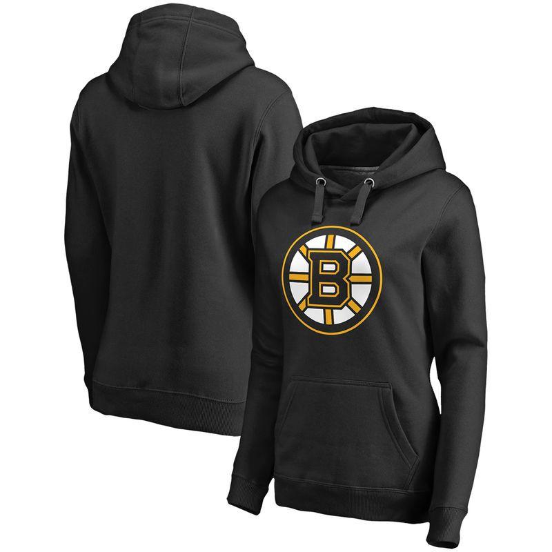 df28b6d27 Boston Bruins Fanatics Branded Women s Primary Logo Fleece Pullover Hoodie  - Black