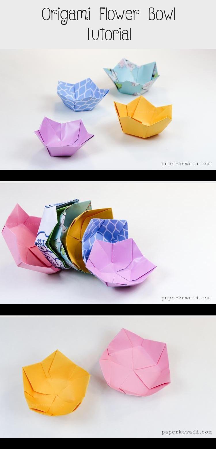 Photo of Origami Flower Bowl Tutorial – Origami Ideas,  #bowl #flower #Ideas ,