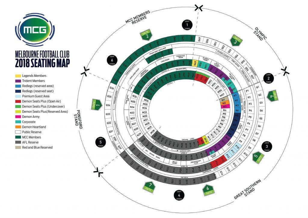 Mcg Seating Plan Afl General Admission Di 2020