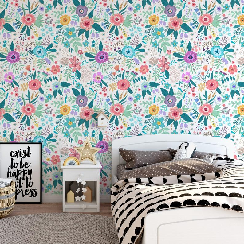 Removable Wallpaper Peel And Stick Wallpaper Wall Paper Wall Mural Vintage Floral Wallpaper A591 Removable Wallpaper Wall Wallpaper Large Print Wallpaper
