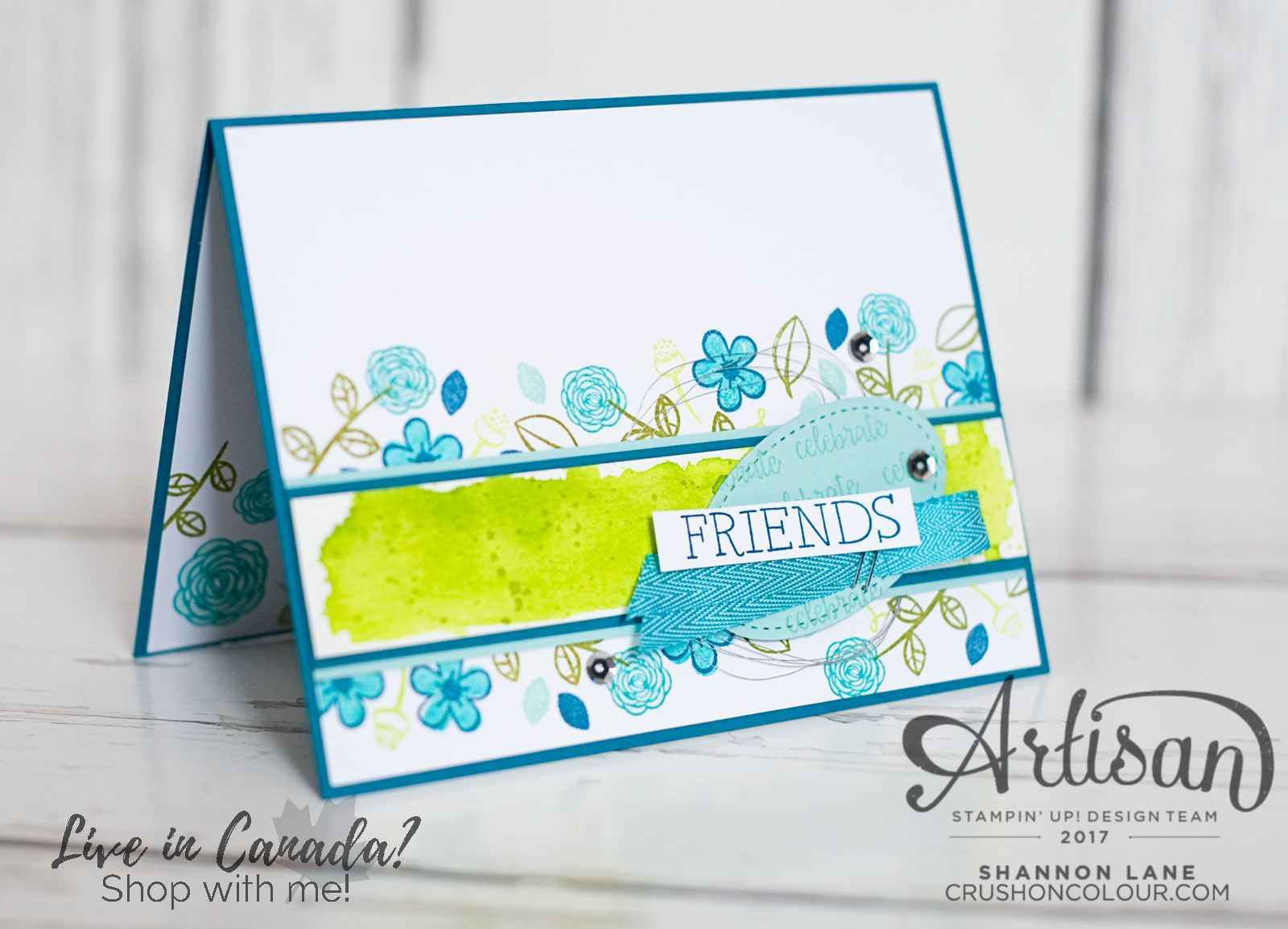 Carry your stamped images through to the inside of your card for an extra-special touch!  ~Shannon
