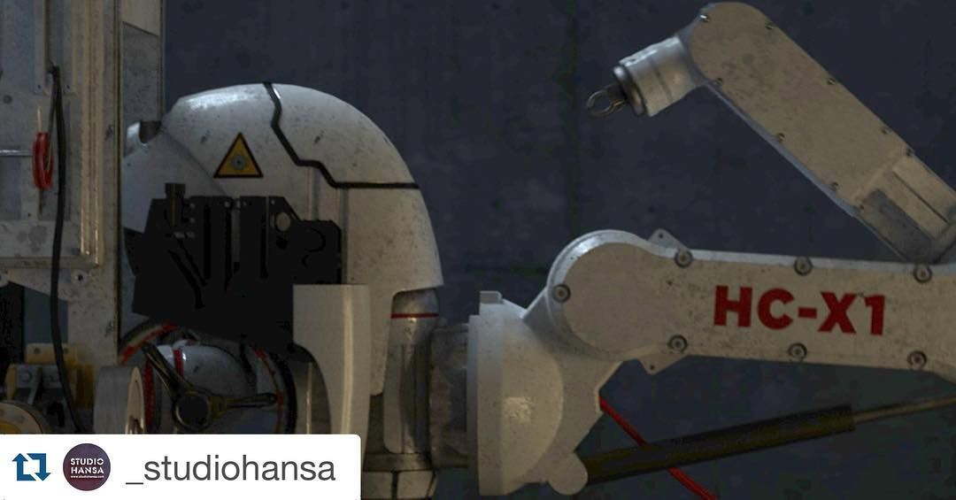 #Repost @_studiohansa with @repostapp.  Last one for a while...the Headcleaner arm in situ #rnd #robotics #robot #film #crowdfunding #headcleaner #cgi #3d #c4d #octane #filmmaking #behindthescenes #setlife #directing #design #headcleaner by instagrambling
