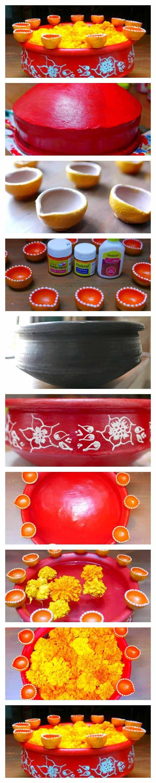 Great DIY Diya Diwali Decoration Ideas Handmade Home Decor. BastelnDeko IdeenBastelideenHandwerkliches  ...