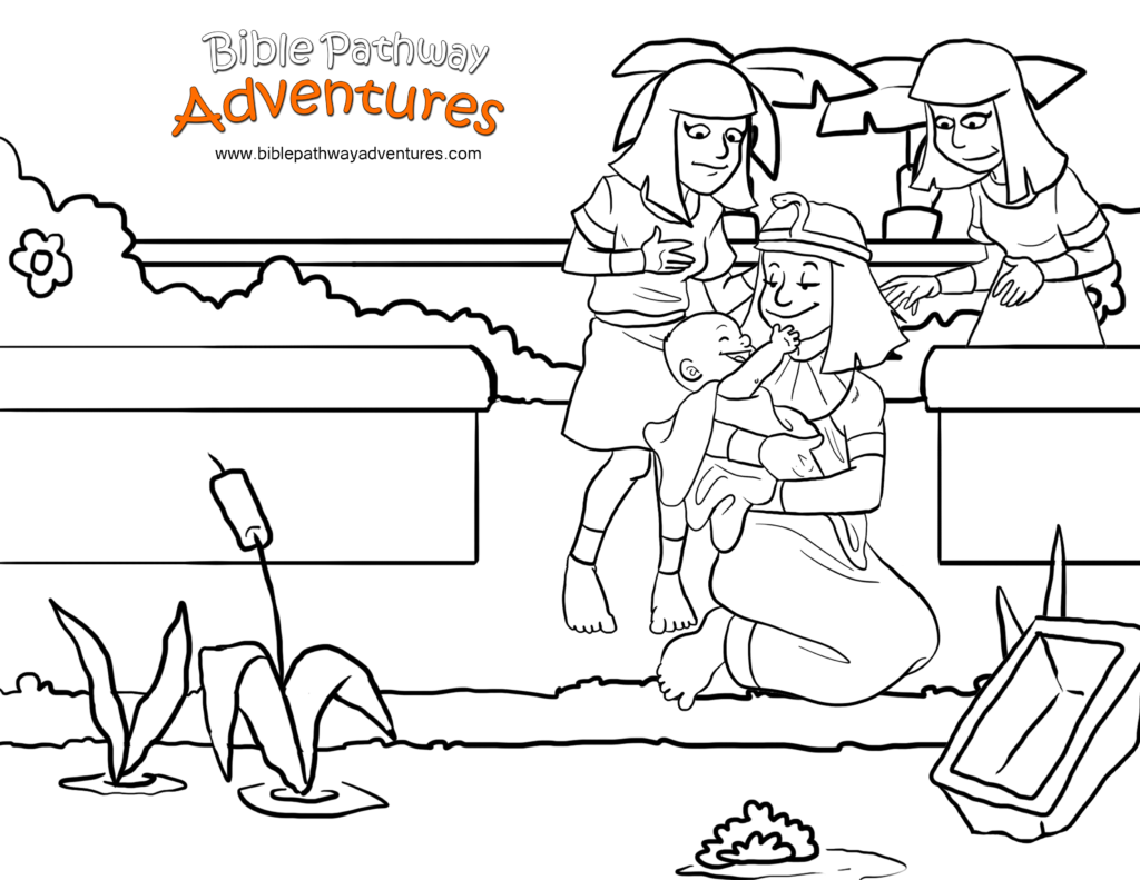 Moses Bible Story Escape From Egypt Coloring PagesColoring