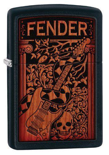 Zippo Fender Lighter, Black Matte