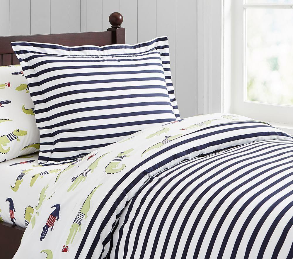 Organic Breton Stripe Quilt Cover Striped duvet covers