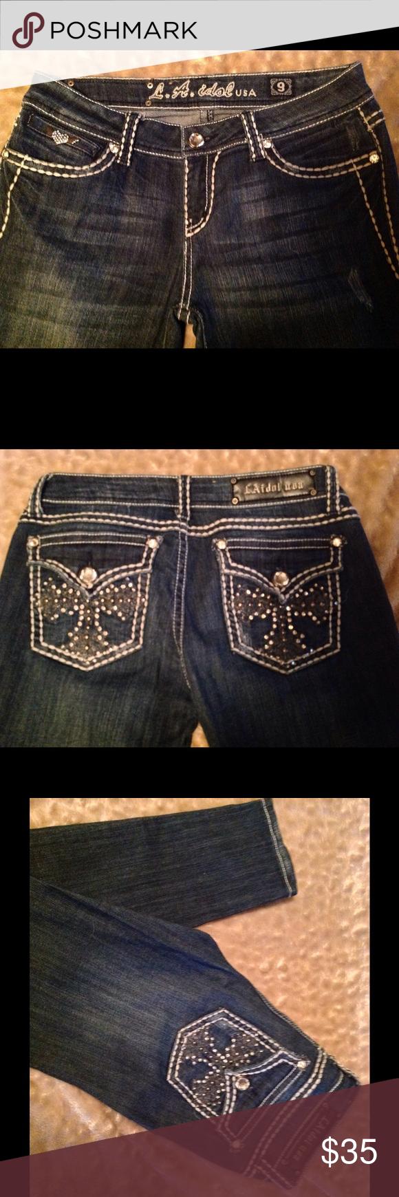 How do you wash bejeweled jeans like miss me or LA Idol?
