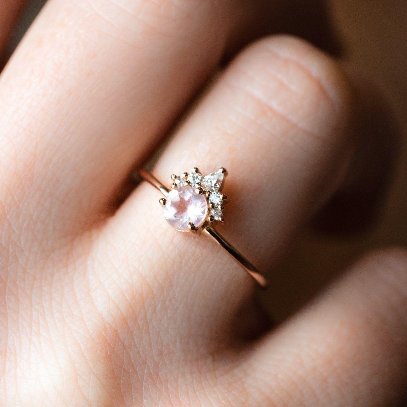 22+ Rose quartz wedding ring set information