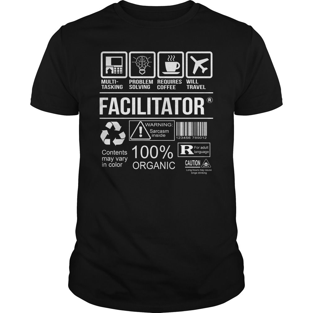 Awesome Tee For Facilitator T-Shirts, Hoodies. VIEW DETAIL ==► https://www.sunfrog.com/LifeStyle/Awesome-Tee-For-Facilitator-105000075-Black-Guys.html?id=41382