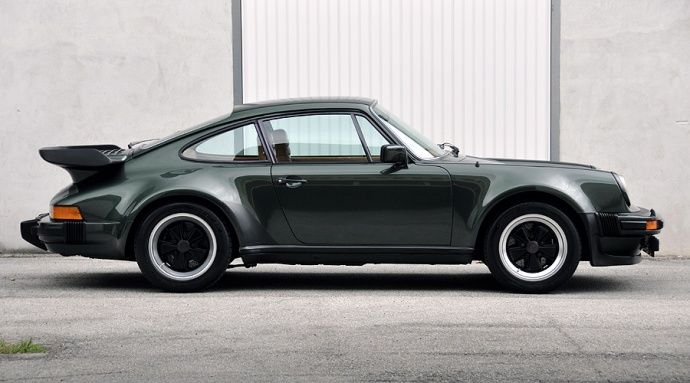 classic 911 turbo with the massive rear whale tail