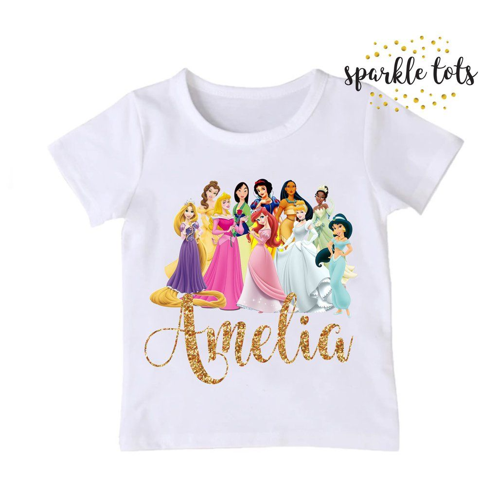 Disney Princess Birthday Shirt Disney princess birthday