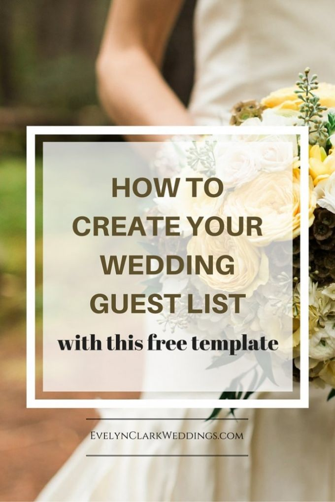 Create your wedding guest list tips and a template Guest list - wedding guest list template