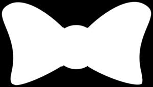 bow outline clip art - vector