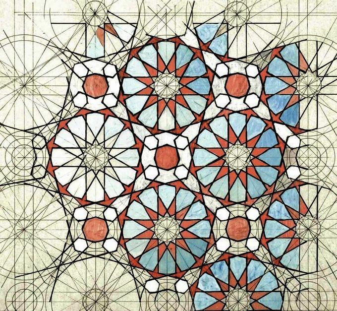 Alhambra tiles by rafael araujo golden ratio art the for Golden ratio artwork