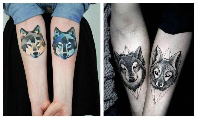 Tatuajes de lobos para parejas Body Art Pinterest