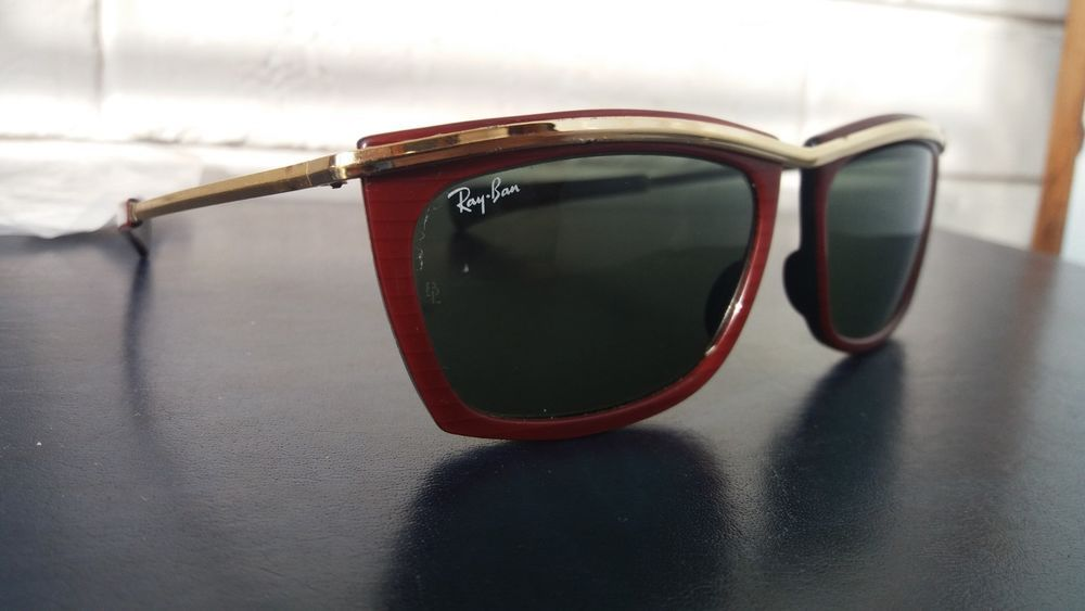 7da6632715 RAY BAN B L MOD OLYMPIC GAMES SPECIAL EDITION RED VINTAGE USA ...