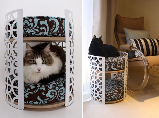 Palm Springs Lounge Two Story Cat Bed From Moderncat Studio