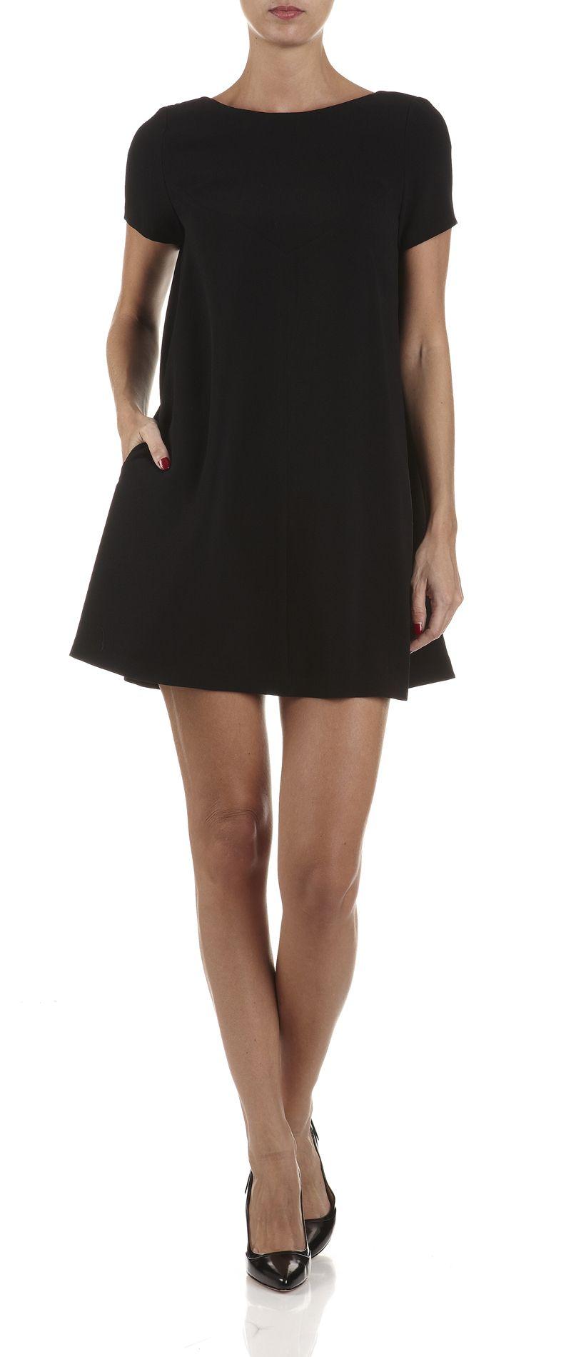 Robe trapèze en crêpe Noir by TARA JARMON   robe crepe   Pinterest ... 9fdb5ca97052