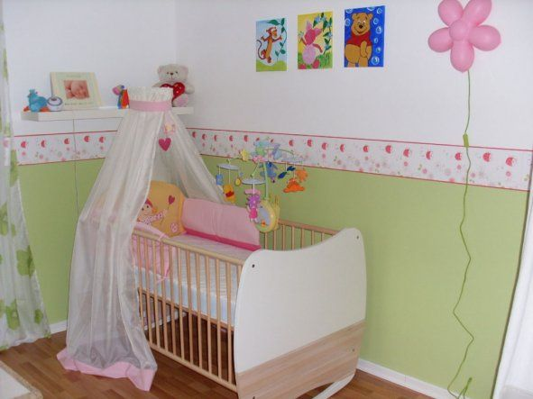 Bordüre Babyzimmer ~ Unten grün oben weiß ohne bordüre kinderzimmer