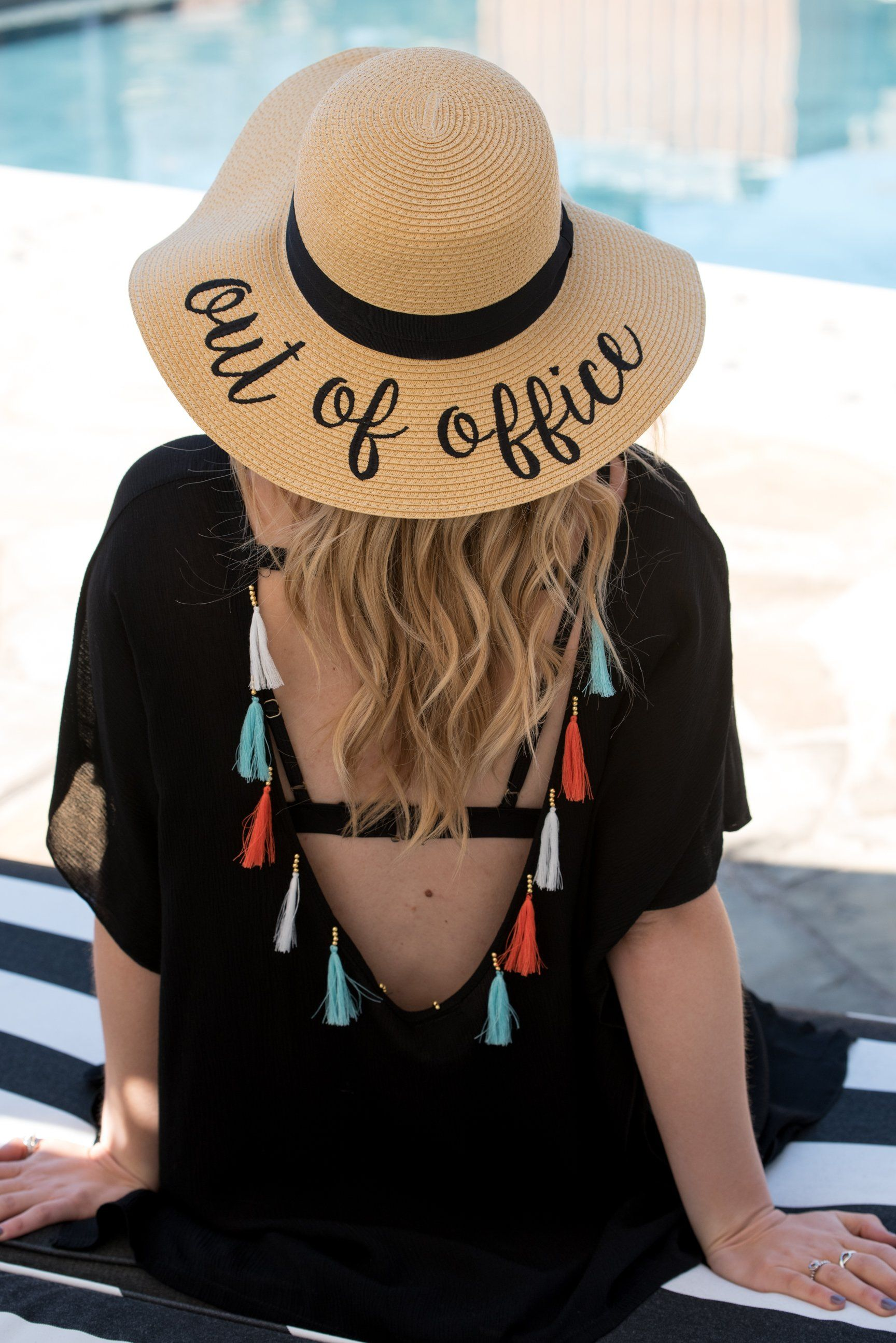 Out of office floppy sun hat natural  c9614693451